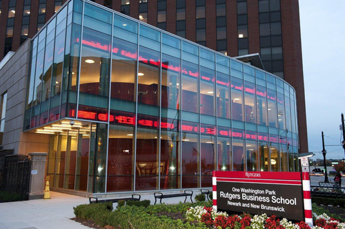 Rutgers Business School's CEO Lecture Series has featured a variety of leading executives, including Sheri McCoy, CEO of Avon, and Keith Banks, president of U.S. Trust, Bank of America Private Wealth Management. Both are graduates of the Rutgers MBA program.  (PRNewsFoto/Rutgers Business School)