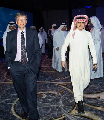 Prince Alwaleed and Bill Gates Join Forces to Eradicate Polio at Global Vaccine Summit.  (PRNewsFoto/Alwaleed Bin Talal Foundation)