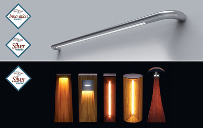 Cooper Lighting's io(R) LED Balance Beam received a Silver Award and was honored with a prestigious Innovation Award, while the io(R) Koi LED Bollard Series also received a Silver Award in the 22nd annual Best of NeoCon(R) Awards.  (PRNewsFoto/Cooper Lighting)