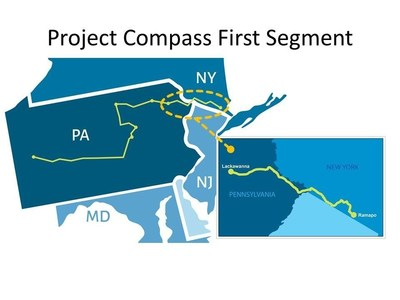 The first segment of PPL Electric Utilities' Project Compass is a 95-mile line between Blakely, Pa., and Ramapo, N.Y.