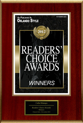 "Calla Slimspa Medical Weight Loss Center Selected For ""Readers' Choice Awards"".  (PRNewsFoto/Calla Slimspa Medical Weight Loss Center)"