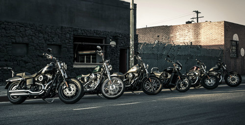In conjunction with the announcement of the Harley-Davidson Hometown Throwdown III contest, Harley-Davidson will award a custom Harley-Davidson cruiser from their new 2015 Cruiser motorcycle lineup to each of the five winning Ultimate Fighting Championship(r) (UFC) fighters. (PRNewsFoto/Harley-Davidson)
