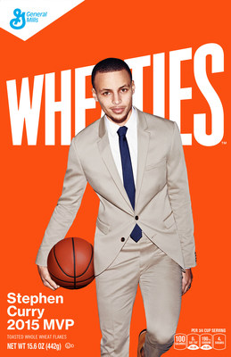 """Wheaties today welcomes pro basketball MVP Stephen Curry to the Team Wheaties family with a new limited-edition box available in stores in June. A proven all-star on and off of the court, Curry's leadership and performance cemented his """"Breakfast of Champions"""" honors on the Wheaties box."""