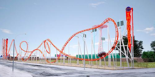 Luna Park In Coney Island To Unveil Brand New Thunderbolt Roller Coaster For The 2014 Season. (PRNewsFoto/Luna ...
