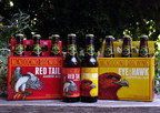 Mendocino Brewing Company marks its 31st year of brewing fine craft ales with the launch of a new look for the packaging of its classic Northern California flagship craft beers, Red Tail Amber Ale and Eye of the Hawk Imperial Ale. (PRNewsFoto/Mendocino Brewing Company)