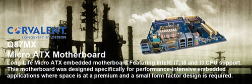 Corvalent Industrial Motherboard Line Added to CMTL Advanced Tested Compatibility Program