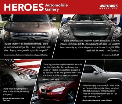 AutoPartsWarehouse.com Heroes Auto Gallery Launches to Honor Service Members (PRNewsFoto/AutoPartsWarehouse.com)