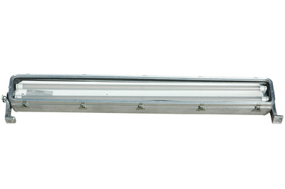 The Magnalight HAL-48-2L-LED-G2 Hazardous Area LED Light Fixture is U.S./Canada U.L. approved Class 1 Division 2 Groups A, B, C and D - UL 1598A listed, has a T4A temperature rating and ideal for hazardous locations where flammable chemical/petrochemical vapors may be occassionally encountered.  (PRNewsFoto/Larson Electronics)