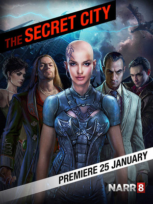 """""""The Secret City"""" cover image - adapted from bestselling urban fantasy novel series by famed author Vadim Panov.  (PRNewsFoto/NARR8)"""