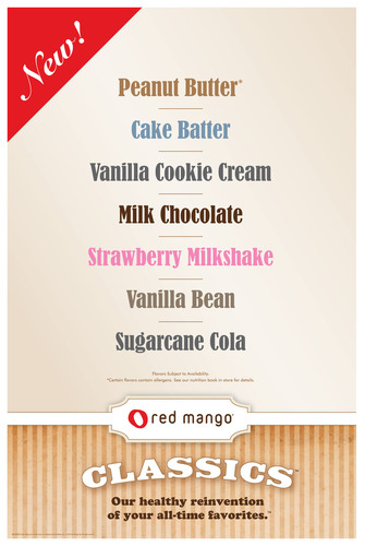 Red Mango Introduces Classics Line of Frozen Yogurt.  (PRNewsFoto/Red Mango)