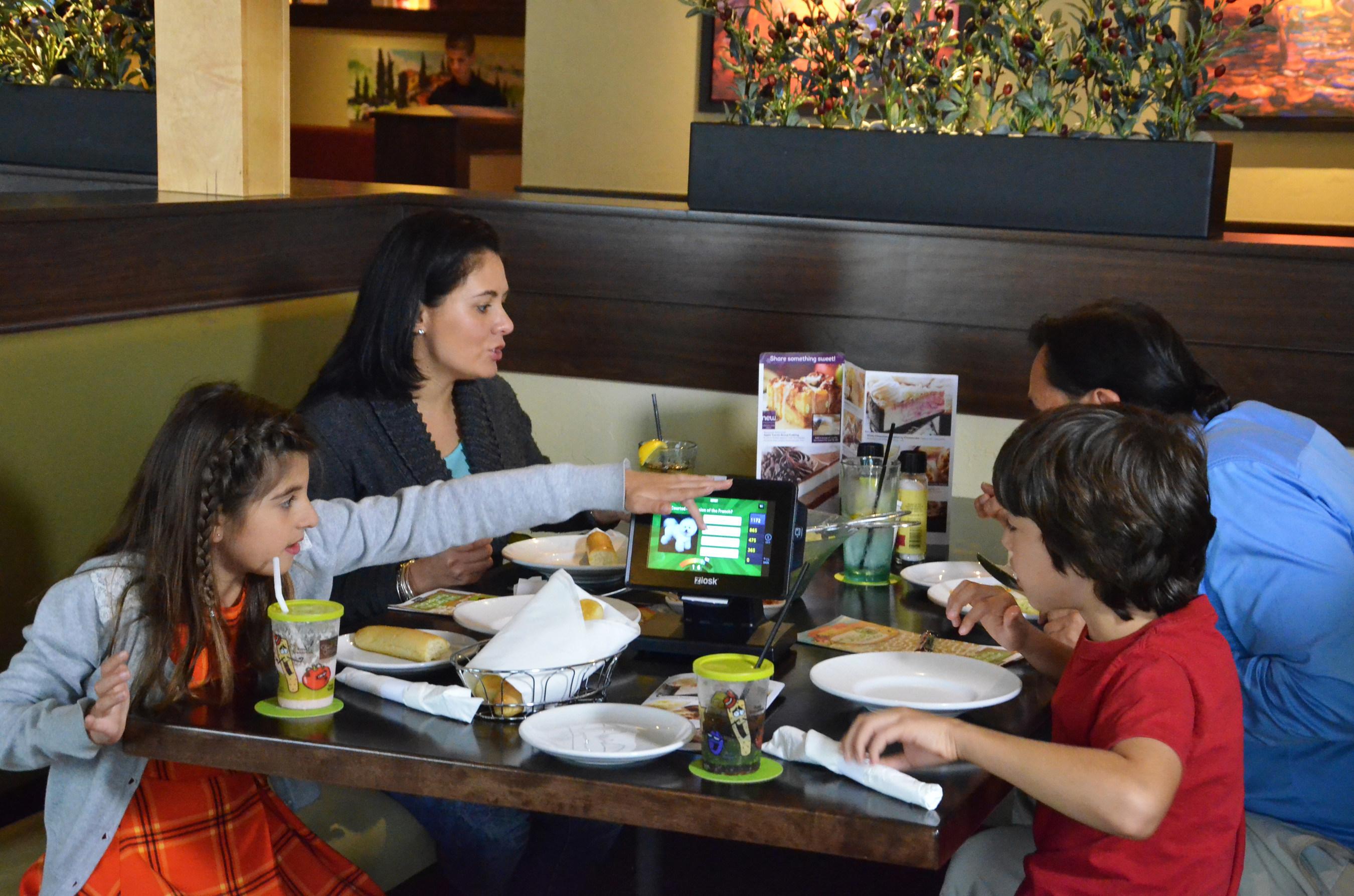 olive garden to introduce ziosk tabletop tablets - Olive Garden Folsom
