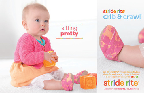 Stride Rite Crib print advertisement.  (PRNewsFoto/Stride Rite Children's Group)