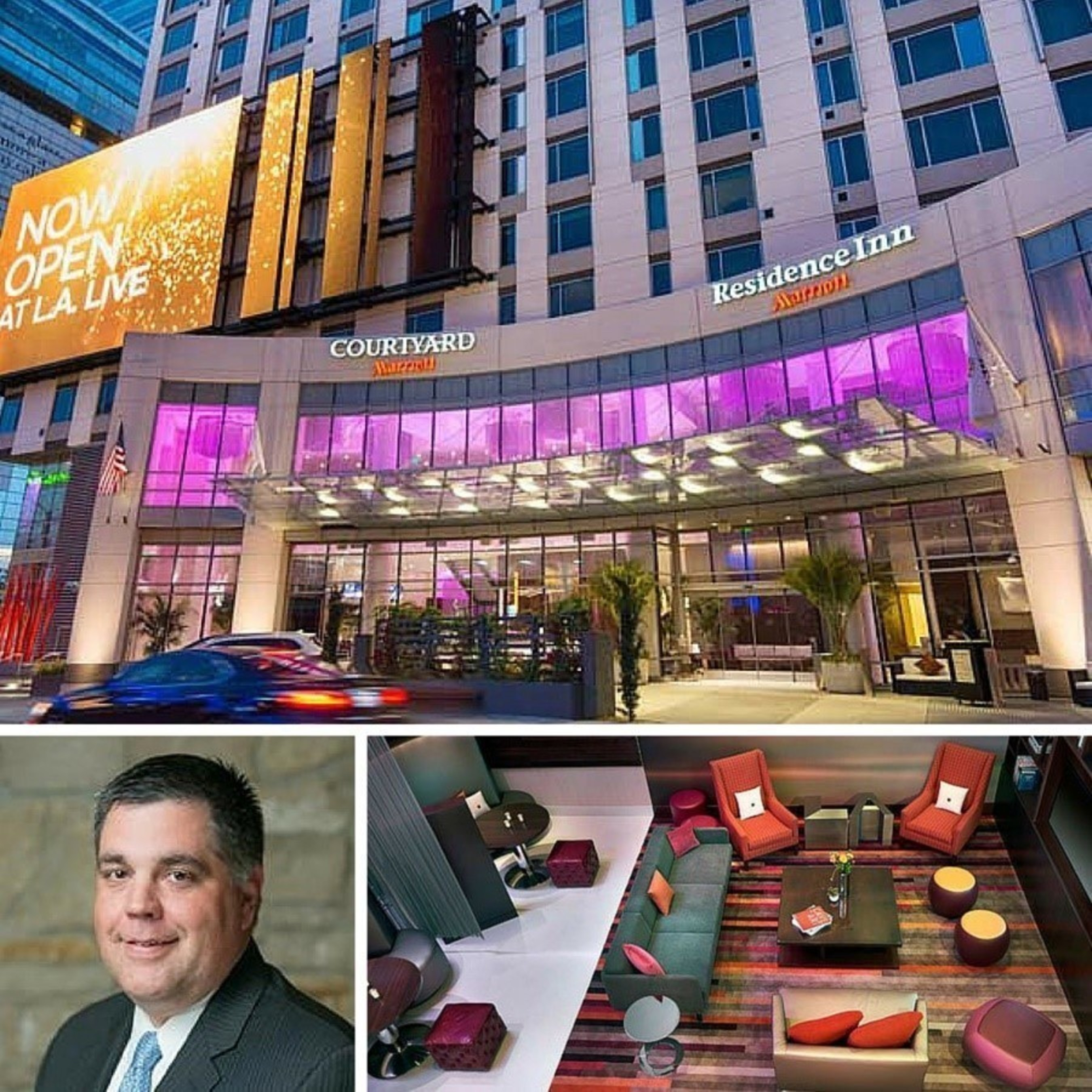 Courtyard and Residence Inn Los Angeles L.A Live is proud to announce Marriott veteran Jim Redington as the new dual manager of the one-of-a-kind downtown hotel. For information, visit www.marriott.com/LAXLD and www.marriott.com/LAXRI or call 1-213-443-9200.