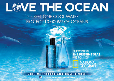 A New Dive Into The Ocean With DAVIDOFF Cool Water And National Geographic For 2013.  (PRNewsFoto/Coty Inc.)