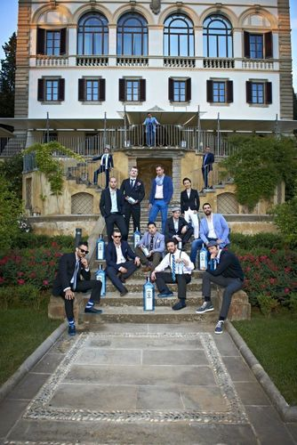 Raj Nagra and the finalists for Bombay Sapphire World's Most Imaginative Bartender 2013