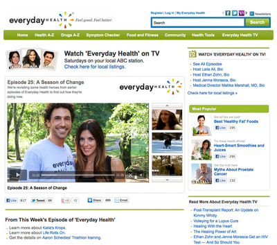 Everyday Health, Inc., a leading digital health company, is pleased to announce that its syndicated television series, Everyday Health, received a daytime Emmy(R) nomination-making it the first digital company to receive this high honor.  (PRNewsFoto/Everyday Health, Inc.)