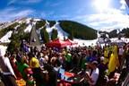 Springtime revelers celebrate the spring ski season under Colorado Ski Country's blue skies.