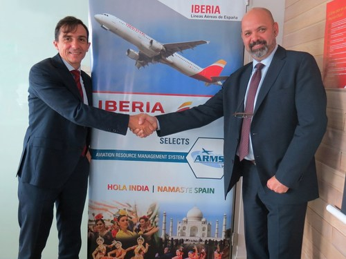On the left is:  Rafael Jimenez Hoyos, Chief Operating Officer, Iberia and on the right: Vivek Sheorey, ...