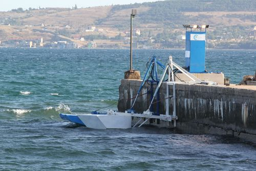 Eco Wave Power's 10KW Power Plant, operational in high and low waves.