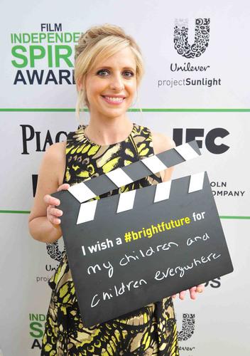 SANTA MONICA, CA - MARCH 01: Sarah Michelle Gellar calls ACTION! to create a brighter future for children on ...