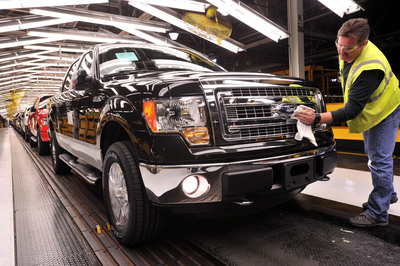 Ford, America's truck leader, today welcomes a third crew of 900 new hourly workers at its Kansas City Assembly Plant to meet surging customer demand for the Ford F-150.  (PRNewsFoto/Ford Motor Company)