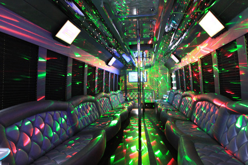 'Monster' Party Bus Lights Up the Night.  (PRNewsFoto/Carolyn Frith Marketing, LLC)