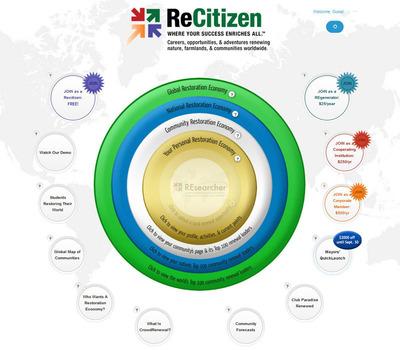 ReCitizen.org home page.  (PRNewsFoto/ReCitizen)