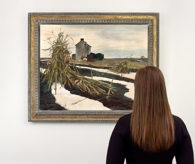"""Barely known and rarely seen, the undisputed star of Freeman's auction on Sunday, December 6th is Andrew Wyeth's """"Winter Corn Fields"""" (Lot 81, Estimate $600,000-800,000). This work comes to auction from The Estate of Nancy duPont Reynolds Cooch, who had been a childhood friend of Wyeth's. This and other works by American Art icons and Pennsylvania Impressionists are on view today through Saturday, December 5th. Freeman's is located in Philadelphia's tony Rittenhouse Square neighborhood. Auctions and [...]"""