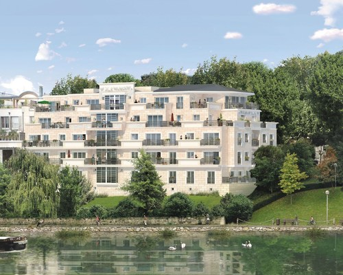 Experience the art of living on an island in Paris : SEGER, as the French high-end property developer, introduces a high standing residence « Neuilly-La-Grande-Jatte » in Neuilly-Sur-Seine, only 10 minutes away from the prestigious Champs-Elysees. (PRNewsFoto/SEGER)