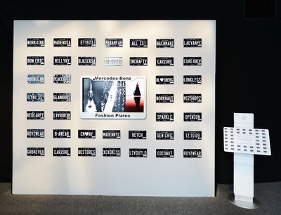 Fashion Plates Arrive At Mercedes-Benz Fashion Week In New York. (PRNewsFoto/Mercedes-Benz USA) (PRNewsFoto/MERCEDES-BENZ USA)