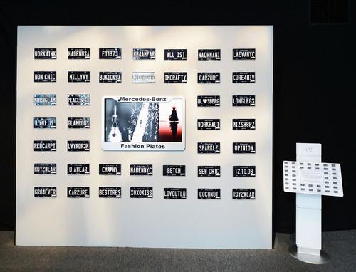 Fashion Plates Arrive At Mercedes-Benz Fashion Week In New York. (PRNewsFoto/Mercedes-Benz USA) ...