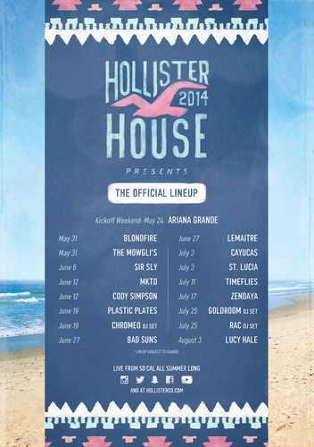 Hollister To Kick-Off A Summer Of Music, Fashion, And Fun In Southern California, Memorial Day Weekend ...
