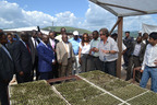 Governor Andre Kimbuta tours Kitoko Food Farm, a joint Gertler Family Foundation (GFF) and Fleurette Group project, in the DRC.  (PRNewsFoto/Gertler Family Foundation)