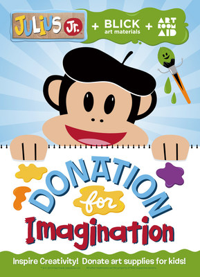 "Julius Jr. Partners with Blick Art Materials for ""Donation for Imagination"" Program"