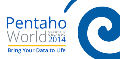 PentahoWorld is the first worldwide conference that brings together Pentaho users, advocates and partners to share valuable insights on data integration and big data, as well as embedded and advanced analytics. www.pentahoworld.com (PRNewsFoto/Pentaho Corporation)