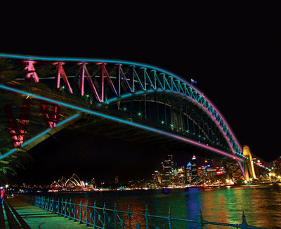 Sydney Harbour Bridge will be illuminated in a world-first lighting installation for the Vivid Sydney Festival, May 24 - June 10.  (PRNewsFoto/Vivid Sydney)