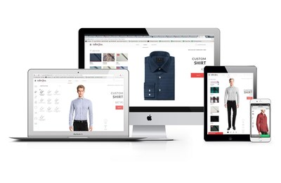 Founded in 2008, Tailor4less is the e-commerce leader in custom suits and shirts. As a customer, you can choose up to 1'000 different customization options and see the design changes on real time, in different view angles and zoom options (PRNewsFoto/Tailor4less)