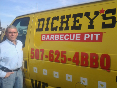 New Dickey's franchise owner Paul Bertino is excited to be opening his new location in Mankato, Minnesota.  (PRNewsFoto/Dickey's Barbecue)