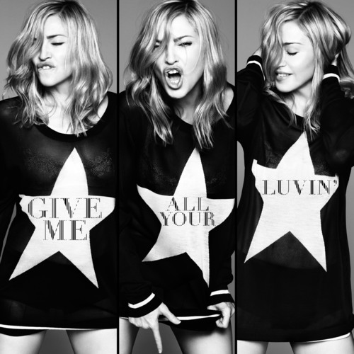 "Madonna ""Give Me All Your Luvin'"" Album Cover.  (PRNewsFoto/Interscope Records)"