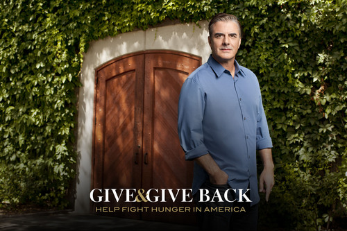 Give & Give Back spokesperson Chris Noth will present the National Hero with a $10,000 donation from Beaulieu Vineyards.  (PRNewsFoto/Beaulieu Vineyard)