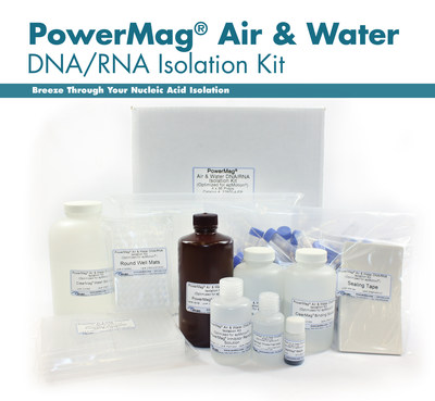 MO BIO Laboratories launches the PowerMag Air & Water DNA/RNA Isolation Kit. (PRNewsFoto/MO BIO Laboratories, Inc.)
