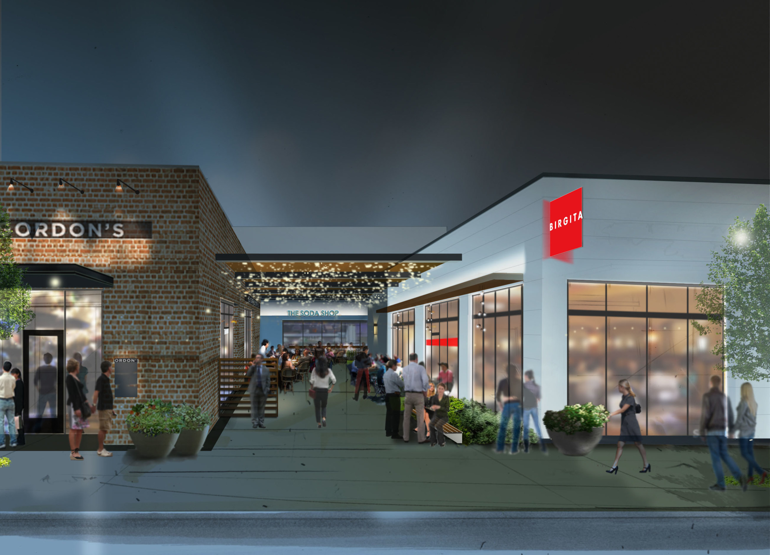 Rendering of Closter Plaza.