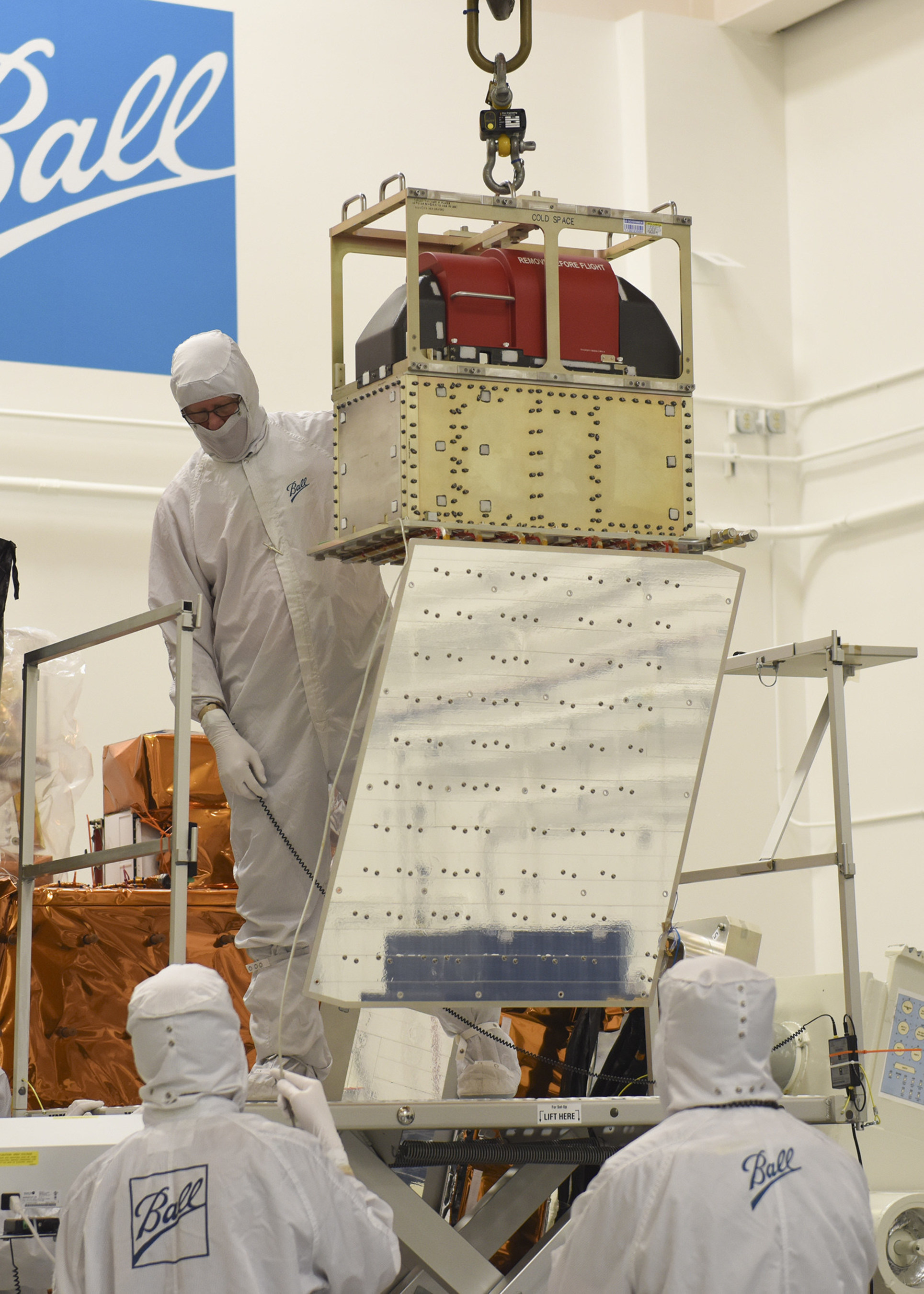 Ball Aerospace has integrated the final of five instruments to fly aboard the Joint Polar Satellite System-1 satellite. The Advanced Technology Microwave Sounder was the final instrument to be integrated onto the JPSS-1 satellite, scheduled to launch in early 2017.