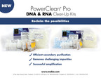 MO BIO Laboratories launches the PowerClean Pro DNA and RNA Clean-Up Kits.  (PRNewsFoto/MO BIO Laboratories, Inc.)