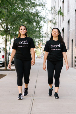 Zeel Massage Therapists on their way to a corporate chair massage event.