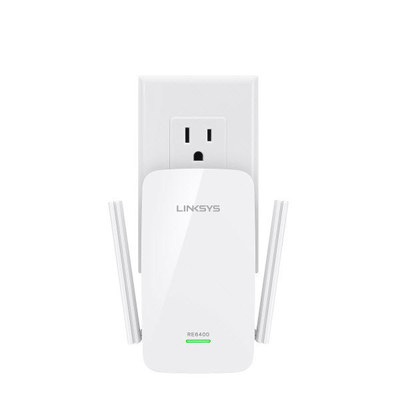 The Linksys AC1200 Boost EX Wi-Fi Range Extender