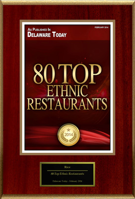"Rice Selected For ""80 Top Ethnic Restaurants"".  (PRNewsFoto/Rice)"