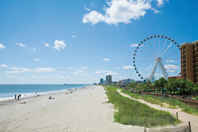 As one of the fastest growing family and vacation destinations in the nation, the 60 miles of coastline in the Myrtle Beach area currently attract an average of 15 million annual visitors, along with thousands of new residents to the destination each year.  (PRNewsFoto/Myrtle Beach Area Convention and Visitors Bureau)