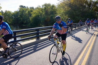 WWP Alumni ride around Boston during the 2015 Soldier Ride Community Ride.