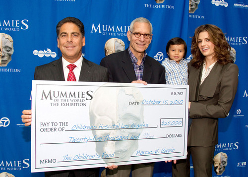 Mummies of the World & CEO Marc Corwin Make $25,000 Donation to Childrens Hospital Los Angeles